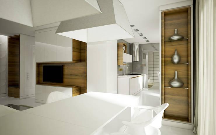 Mieszkanie L: styl , w kategorii Jadalnia zaprojektowany przez NatusDESIGN Pracownia Architektury Wnętrz