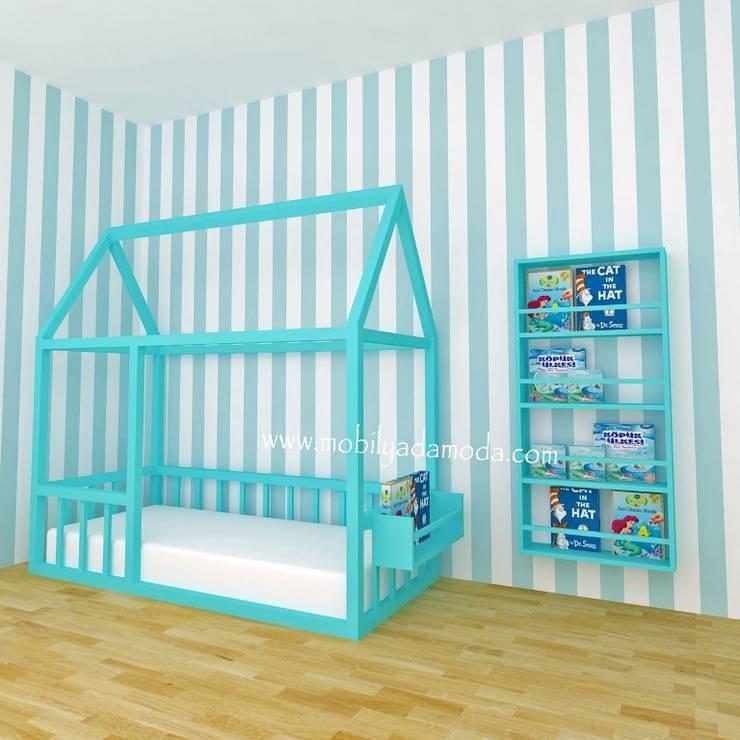 MOBİLYADA MODA  – Mobilyada Moda Tasarımı Montessori Ev Çatılı Yer Yatağı: modern tarz , Modern Ahşap Ahşap rengi