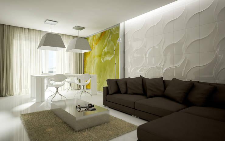 Mieszkanie L: styl , w kategorii Salon zaprojektowany przez NatusDESIGN Pracownia Architektury Wnętrz