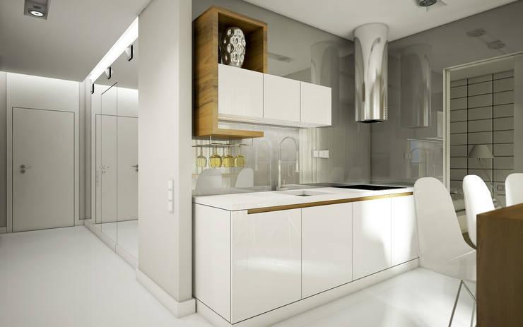 Mieszkanie L: styl , w kategorii Kuchnia zaprojektowany przez NatusDESIGN Pracownia Architektury Wnętrz