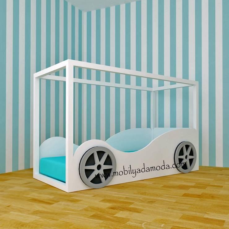 MOBİLYADA MODA  – Mobilyada Moda Montessori Arabalı Yer Yatağı: modern tarz , Modern Ahşap Ahşap rengi