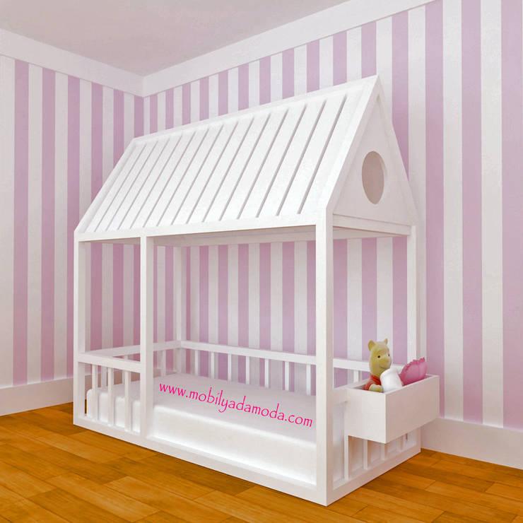 MOBİLYADA MODA  – Mobilyada Moda Montessori Yer Yatağı Çatılı: modern tarz , Modern Ahşap Ahşap rengi