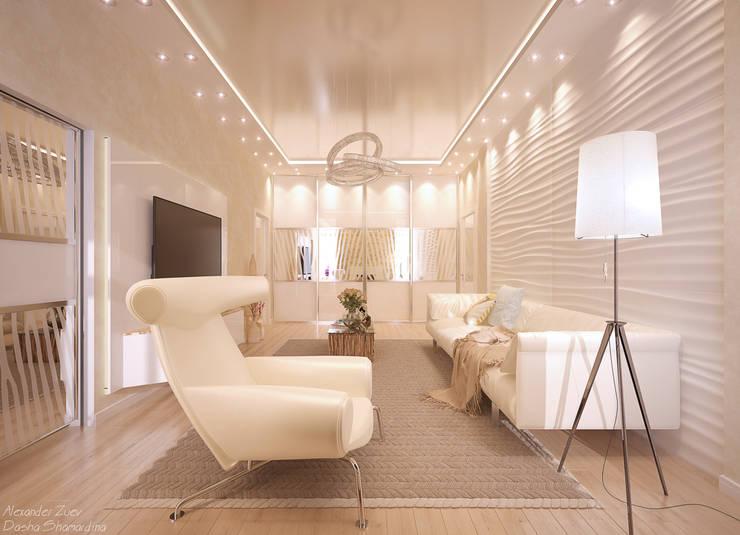 Livings de estilo moderno por Студия интерьерного дизайна happy.design