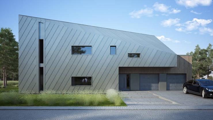 Casas de estilo moderno por Majchrzak Pracownia Projektowa