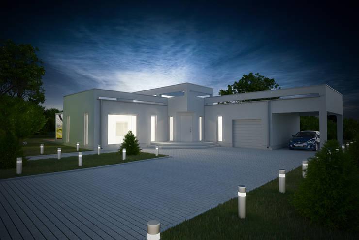 Projekty domów - House 17/17.1: styl nowoczesne, w kategorii Domy zaprojektowany przez Majchrzak Pracownia Projektowa