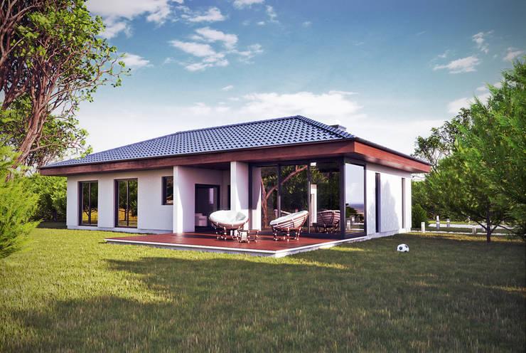 Projekty domów - House 17/17.1: styl , w kategorii Domy zaprojektowany przez Majchrzak Pracownia Projektowa