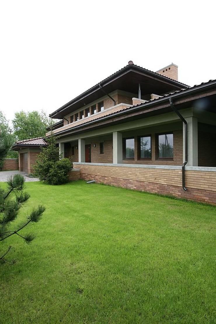 Realizacja projektu Bursztyn: styl , w kategorii Domy zaprojektowany przez Biuro Projektów MTM Styl - domywstylu.pl,Nowoczesny