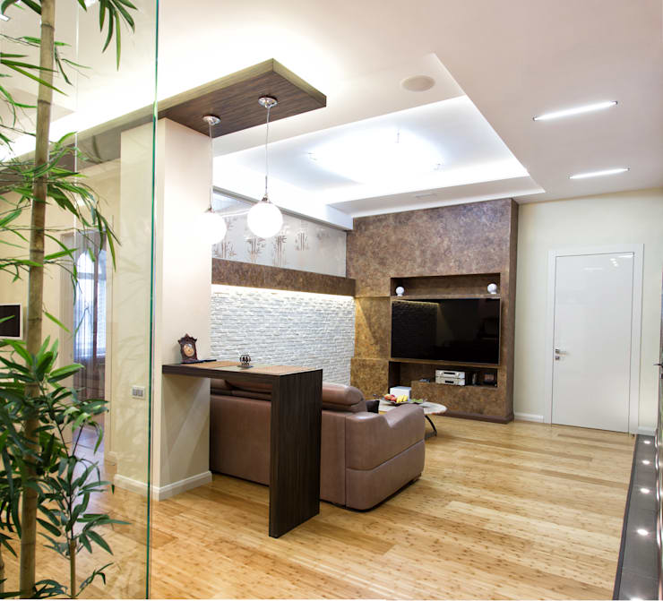 Интерьер квартиры в современном стиле: Гостиная в . Автор – Antica Style