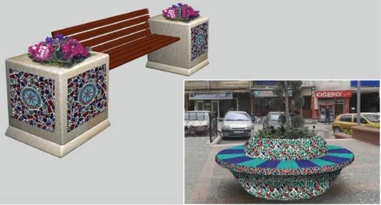 ANİKYA İZNİK ÇİNİ – SİNPAŞ İSTANBUL SARAYLARI / HALKALI - İSTANBUL:  tarz Bahçe