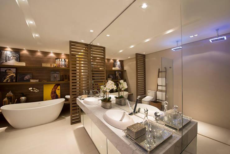 B.C.D.: Banheiro  por Ana Mitzakoff - Designer de interiores