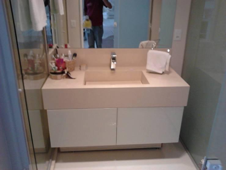 Móveis Prestige: Banheiro  por Prestige Móveis Planejados