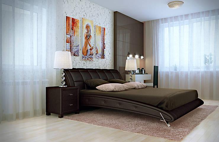 Интерьер с характером: Спальни в . Автор – студия дизайна 'Крендель',