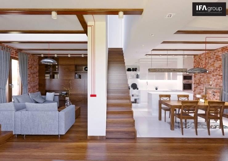 Wnętrze: styl , w kategorii Salon zaprojektowany przez IFA Kamil Domachowski