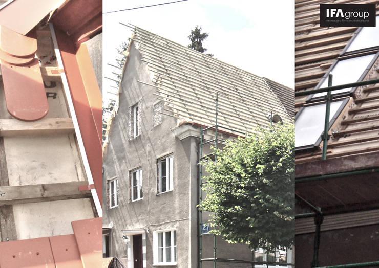 zdjęcia z budowy: styl , w kategorii Salon zaprojektowany przez IFA Kamil Domachowski