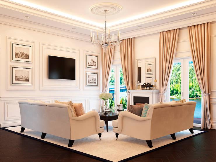 Фото обложки: Гостиная в . Автор – Roskosh Design