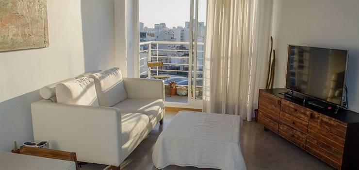 Remodelación Departamento LZ en Caballito: Livings de estilo  por RSOarquitectos