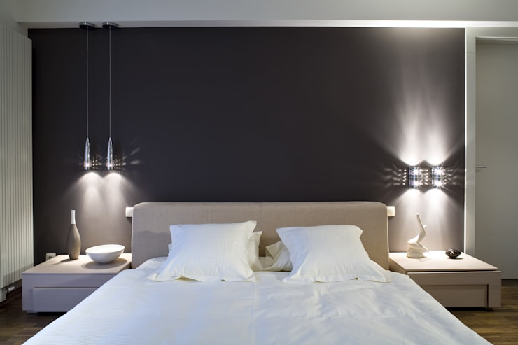 Mieszkanie : styl , w kategorii Sypialnia zaprojektowany przez STUDIO PROJEKTOWE JOANNA WYSOCKA,