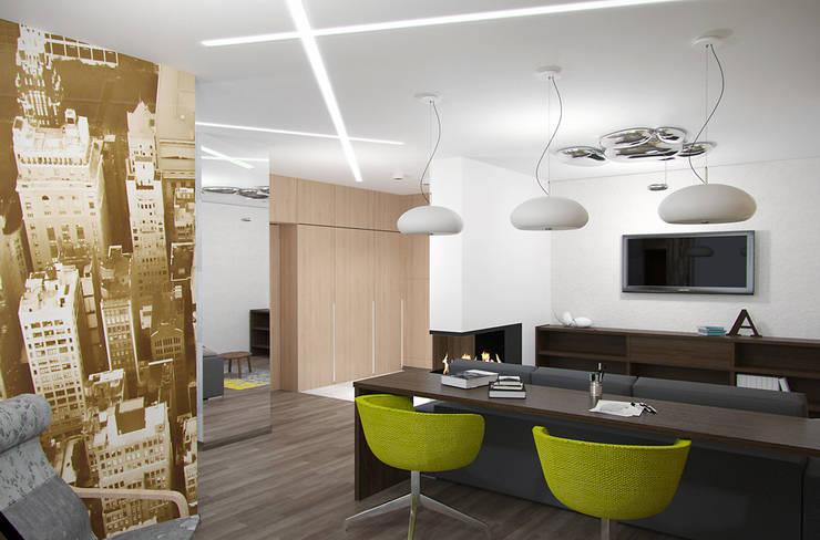 Living room by interier18.ru, Industrial