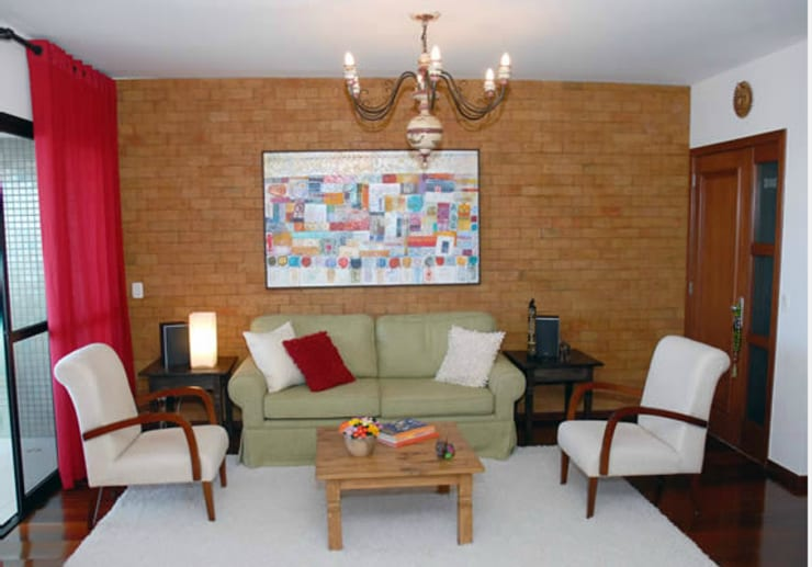 Apartamento Pituba: Salas de estar  por Rose Lima & Fritz Zehnle Arquitetura