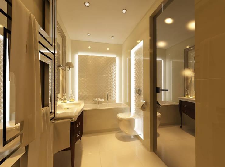 Łazienka Glamour: styl , w kategorii  zaprojektowany przez Ciochon Studio