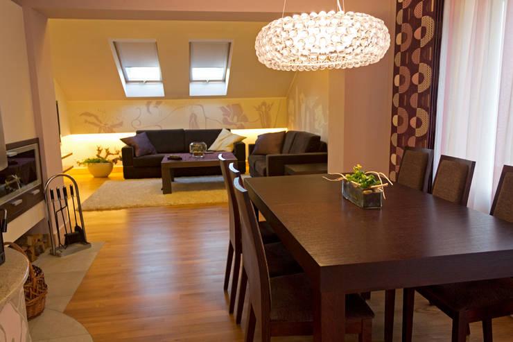 Dom w Gdyni: styl , w kategorii Jadalnia zaprojektowany przez Grafick sp. z o. o.,Nowoczesny