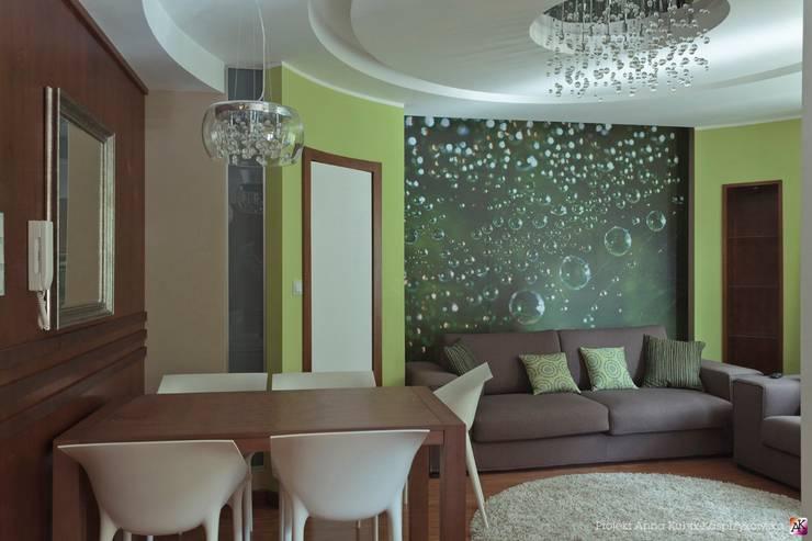 mieszkanie Gdańsk: styl , w kategorii Salon zaprojektowany przez Grafick sp. z o. o.