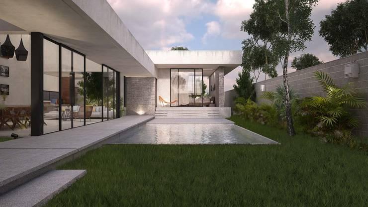 Casa Silveira: Albercas de estilo  por TNGNT arquitectos