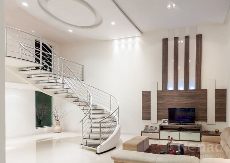 projeto: Salas de estar  por Dani Sanabria Arquitetura e Interiores