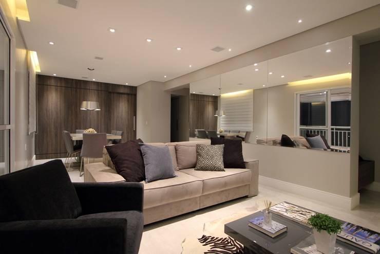 Apartamento Ânima Clube: Salas de estar  por ArchDuo Arquitetura