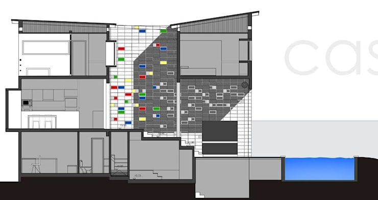 Casa Am 518 de Rr+a bureau de arquitectos - La Plata Moderno