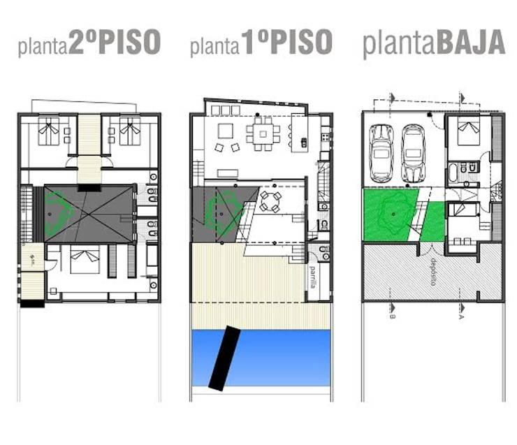 Projekty,   zaprojektowane przez Rr+a  bureau de arquitectos - La Plata