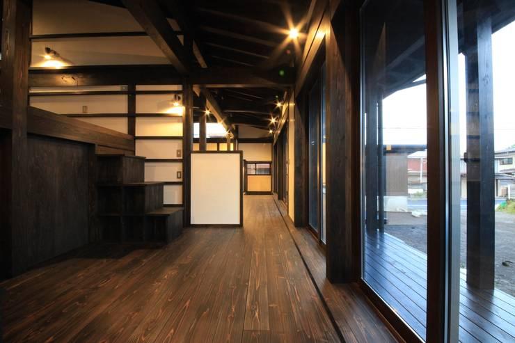 薪ストーブの家  群馬県 中之条町: 田村建築設計工房が手掛けた和室です。