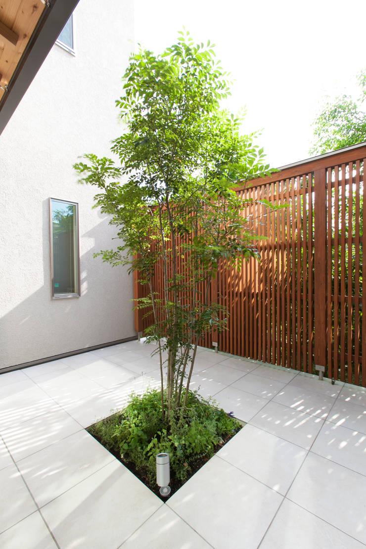 河内長野の家: 株式会社 atelier waonが手掛けた庭です。