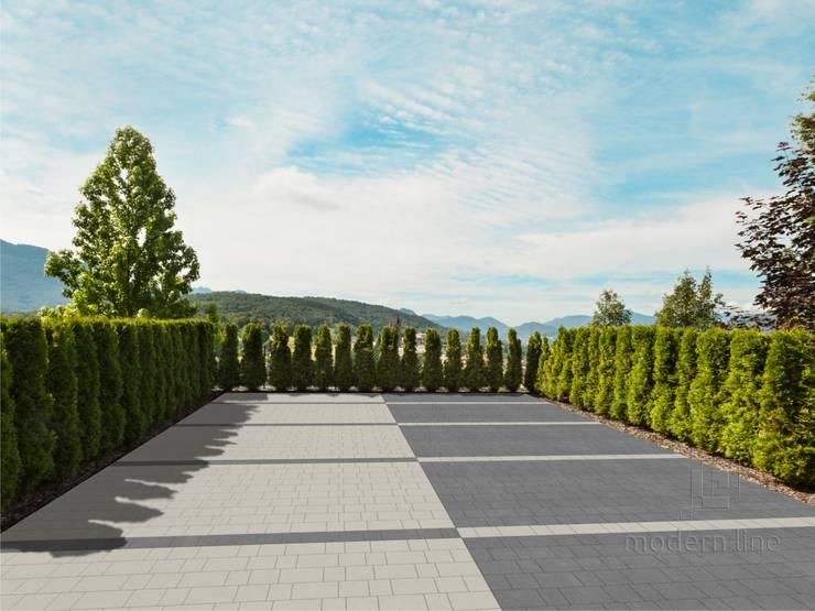 Kostka brukowa Perfect: styl , w kategorii Ogród zaprojektowany przez Modern Line