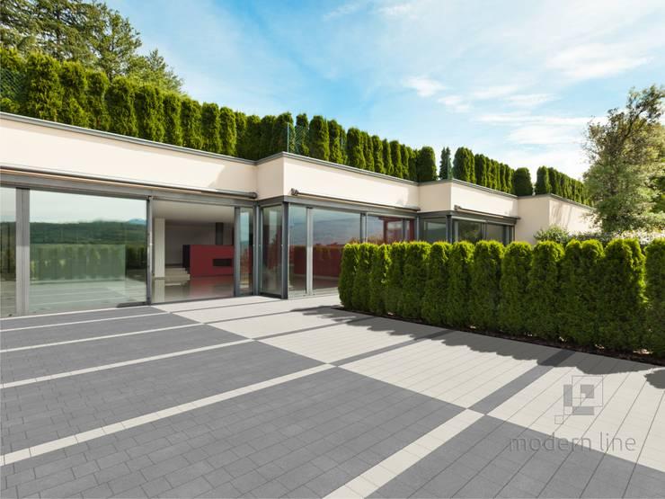 Kostka brukowa Perfect: styl , w kategorii Ściany i podłogi zaprojektowany przez Modern Line