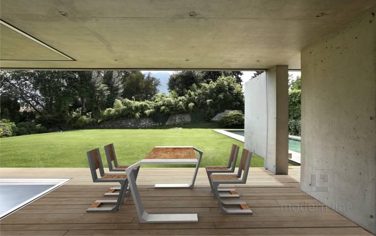 Betonowe meble: styl , w kategorii Taras zaprojektowany przez Modern Line,Nowoczesny