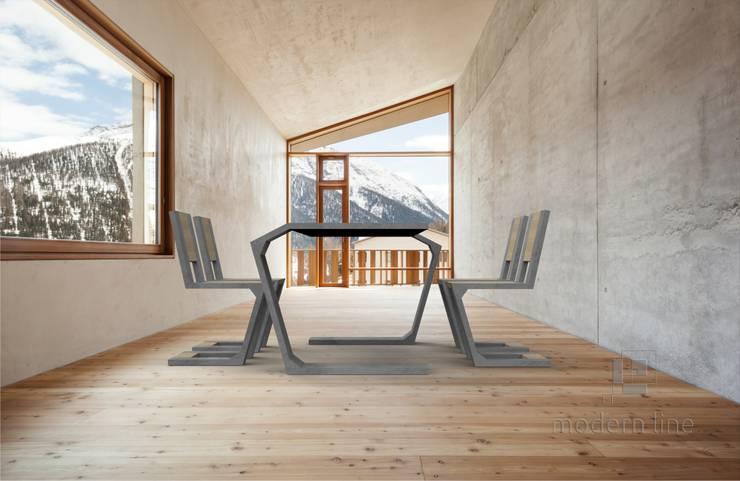 Betonowe meble: styl , w kategorii Jadalnia zaprojektowany przez Modern Line,Nowoczesny