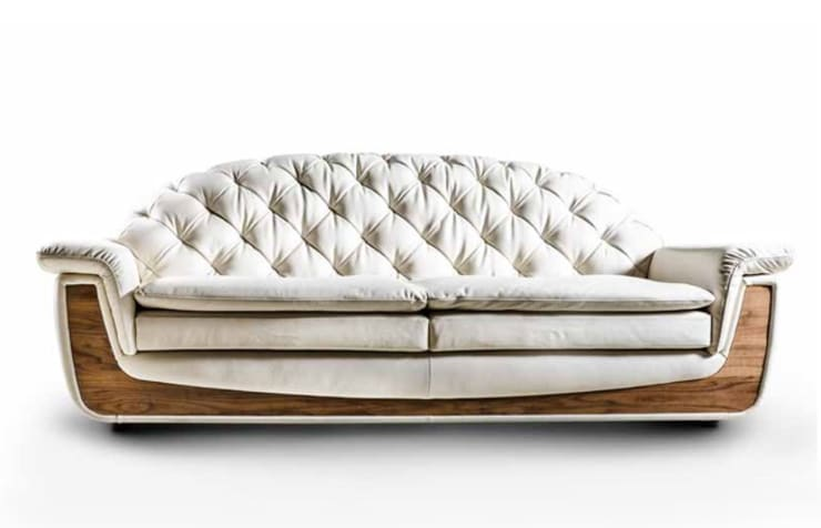 Canletto marki Nieri: styl , w kategorii  zaprojektowany przez Italian Style ,Klasyczny Skóra Szary