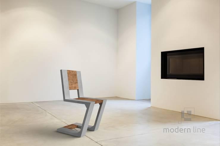 Betonowe meble: styl , w kategorii Salon zaprojektowany przez Modern Line,Nowoczesny