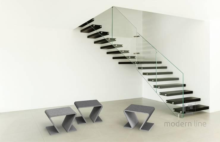 Betonowe meble: styl , w kategorii Korytarz, przedpokój zaprojektowany przez Modern Line,Nowoczesny