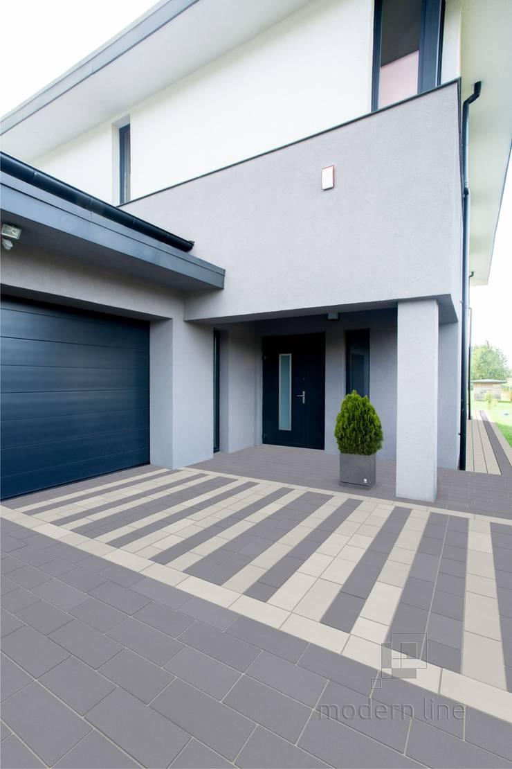 Nowoczesne nawierzchnie z betonu: styl , w kategorii Ściany zaprojektowany przez Modern Line,Nowoczesny