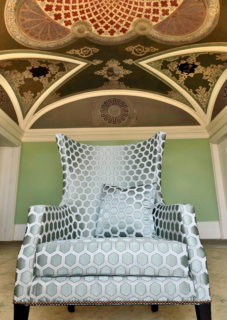 Beside FR: Casa  por Aldeco, Interior Fabrics