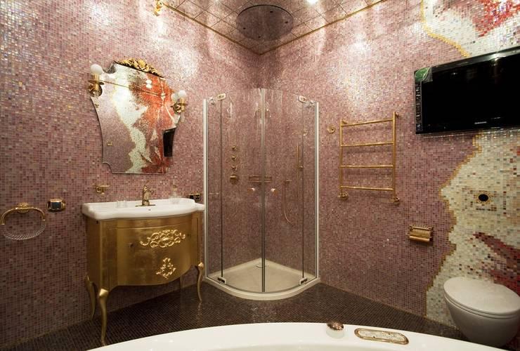 Борисоглебский квартира: Ванные комнаты в . Автор – bakhmetiev.com