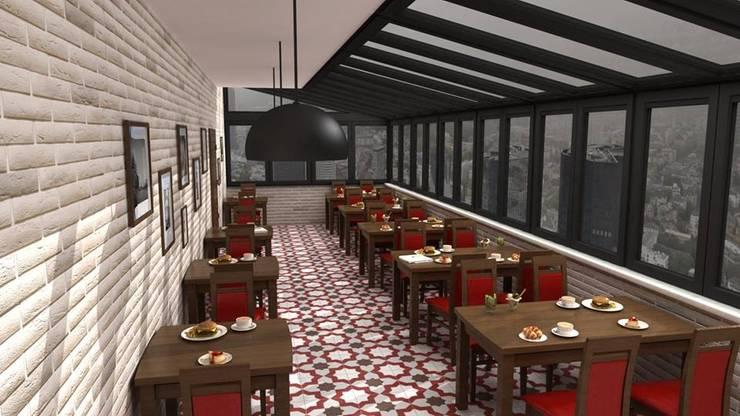 SEBA İÇ MİMARLIK İNŞ. LTD.ŞTİ. – TERAS CAFE:  tarz Balkon, Veranda & Teras