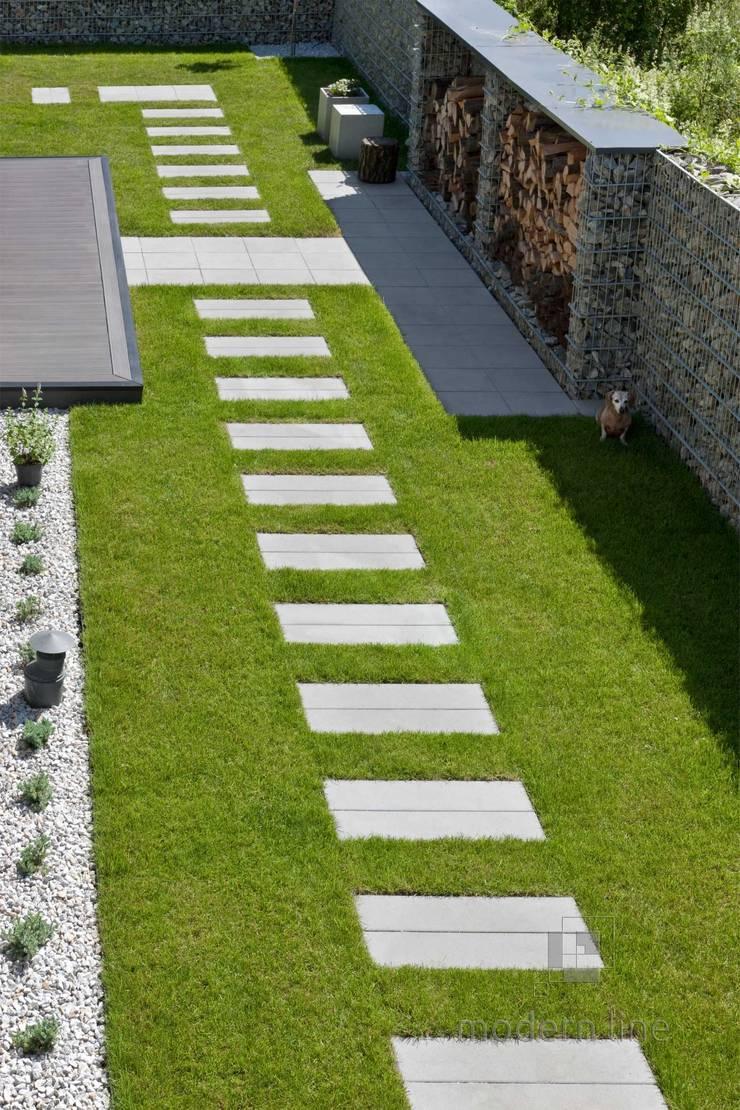 Nowoczesne nawierzchnie – taras i ogród: styl , w kategorii Ogród zaprojektowany przez Modern Line