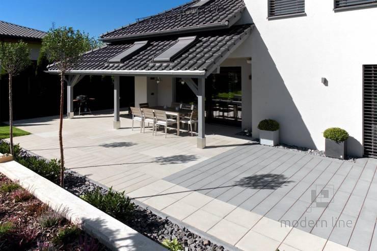 Nowoczesne nawierzchnie tarasowe – ogród i taras: styl , w kategorii Taras zaprojektowany przez Modern Line