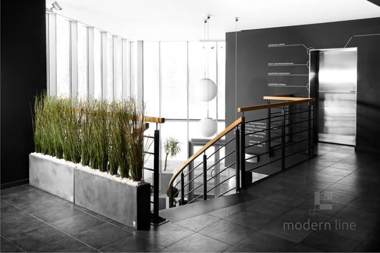 Beton architektoniczny w przestrzeni publicznej: styl , w kategorii Przestrzenie biurowe i magazynowe zaprojektowany przez Modern Line