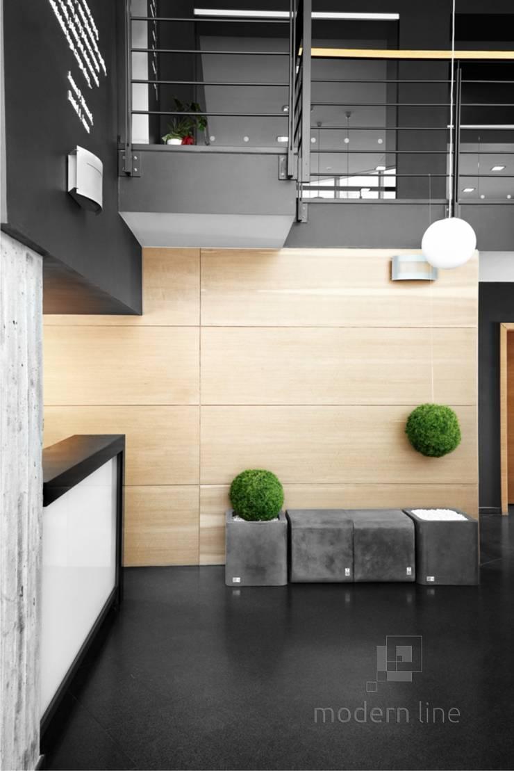 Beton architektoniczny w przestrzeni publicznej: styl , w kategorii Biurowce zaprojektowany przez Modern Line
