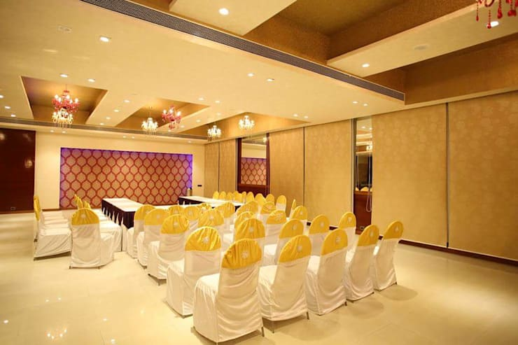 Banquet hall:  Conference Centres by Ishita Joshi Designs - Love Living!
