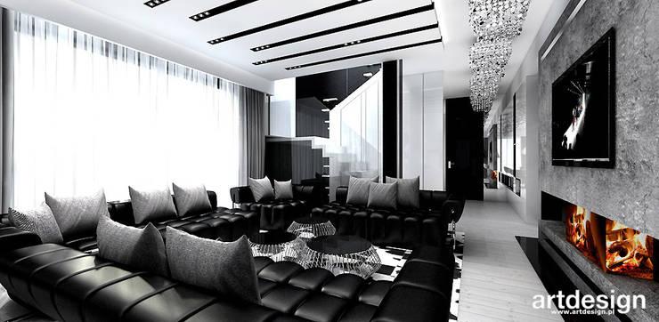 salon z kominkiem: styl , w kategorii Salon zaprojektowany przez ARTDESIGN architektura wnętrz,Nowoczesny